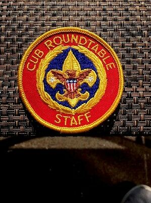 Cub scout roundtable commissioner position patch red tt8 $6. 99.