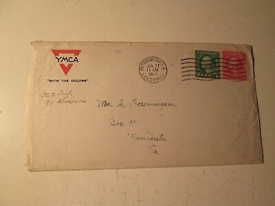 Vtg 1918 WW1 Letter Fort Lee Va. To Winchester Va. Worst Is Yet To Come