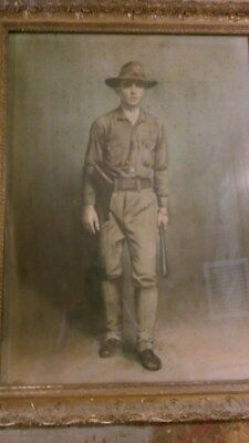 Militaryportrait in original frame, early 1900s Klinepeter from Perry County PA
