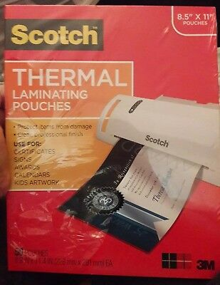 Scotch TP385450 Letter Size Thermal Laminating Pouches, 11 1/2 x 9, 50/Pack
