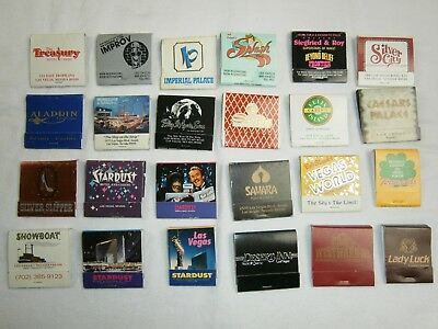 Vintage lot 24 Las Vegas Matches From Closed Casinos - All New & Unstruck - RARE