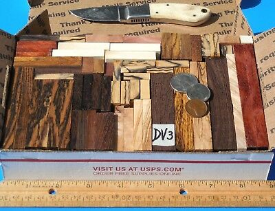 Pairs & Pieces Knife Blank Scales Italian Olive Wood & More~Exotic Wood Lumber