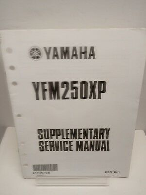 2001 Yamaha CYCLE YFM250XP Supplementary Service Manual First Edition June 2001