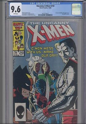 Uncanny X-Men #210 CGC 9.6 1986 Marvel X-Factor/Hellfire Comic: New Frame
