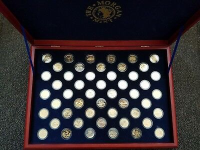 Complete set of Gold Plate State Coins - Morgan Mint (1)