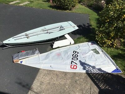 Laser Radial Sailing Dinghy #167069, ready to sail!