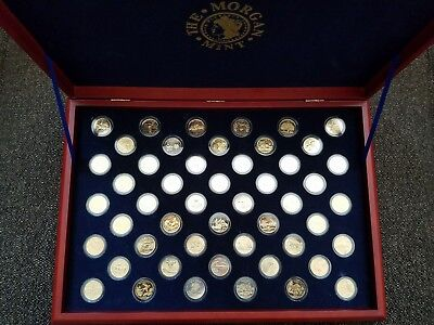 Complete set of Gold Plate State Coins - Morgan Mint (2)