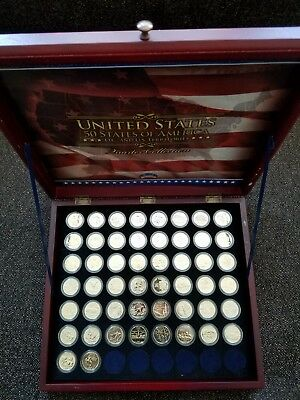 Complete set of Gold Plate State Coins - Morgan Mint (b)