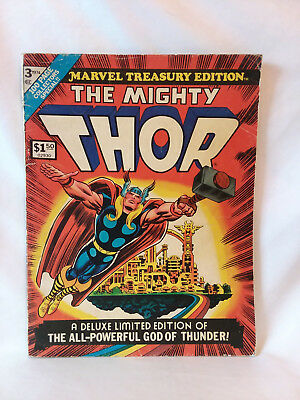 Marvel Treasury Edition #3 1974, The Mighty Thor, large format, GD+, Stan Lee ..