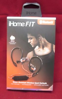 NEW iHome Fit earbuds. Water-Resistant Wireless Bluetooth