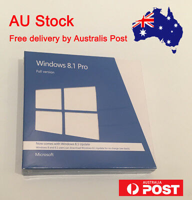 Microsoft Windows 8.1 Pro 32/64 bit with DVD Sealed Retail Packing