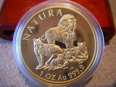 1994 South Africa 1 oz. Natura Lion 999.9 Gold Proof coin original mint sealed