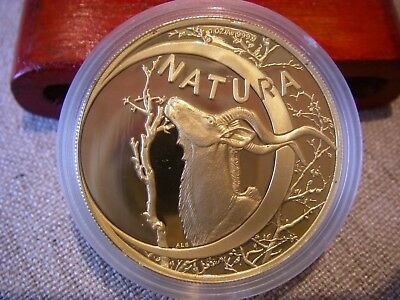 1999 South Africa 1 oz. Natura Kudu bull 999.9 Gold Proof coin orig mint sealed