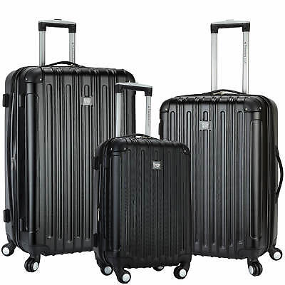 Brand NEW Travelers Club Madison 3-Pc. 2-in-1 Spinner Set - Black HSC-21403-001