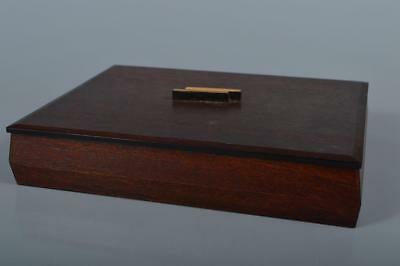 M9838: Japanese Wooden Bamboo CONTAINER for article Accessories Case Box