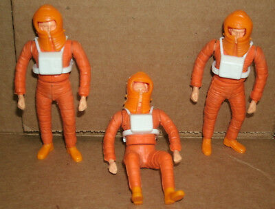 Three 1/20 Scale Space 1999 TV Show Action Figures from 1975 ATV Licensing LTD