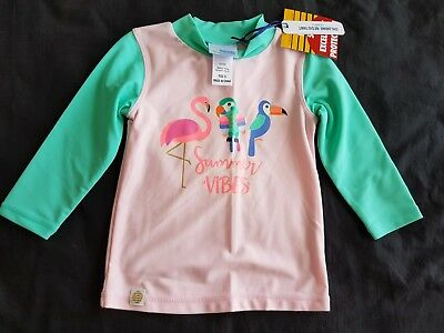 Girls new CANCER COUNCIL rashie top size 0