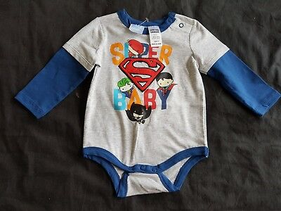 Boys new JUSTICE LEAGUE romper size 0