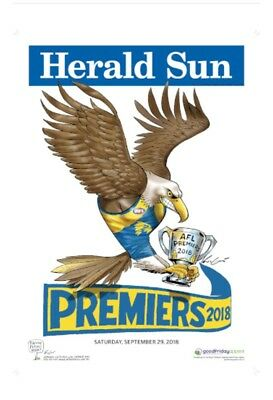 2018 AFL West Coast Eagles MARK KNIGHT PREMIERS PREMIERSHIP POSTER HERALD SUN