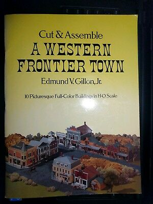 A Western Frontier Town - 10 HO Scale Cut and Assemble Paper Buildings
