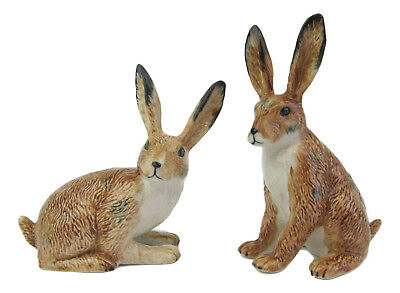 Hare Porcelain Rabbit Salt & Pepper Shakers App 9.5cm H