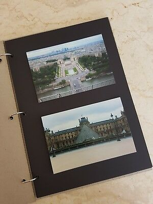 A4 - DIY 10 Page Photo Album/Scrapbook - Portrait black