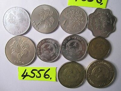 10  x assorted coins from    Vietnam    50 gms      Mar4556