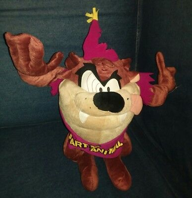 "Tasmanian Devil (Taz) Party Animal Plush Bendable Doll Approx 13"" Hard To Find"