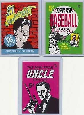 2018 Topps 80th Anniversary Wrapper Art Set 29 - 62 Baseball Jumpstreet UNCLE SP