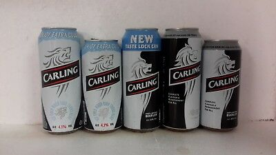 Tall Drawn Steel Carling Beer Cans brewed in the UK