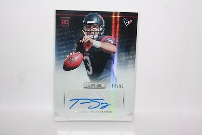 "NFL Panini Rookies & Stars 2014 ""Tom Savage - Houston Texans"" Autograph 88/99"