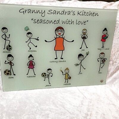 Personalised Character Glass Chopping Board