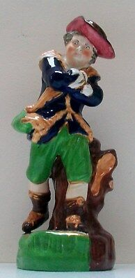 "19Th  Century Victorian Staffordshire Figure Of One Of The Seasons "" Winter  """