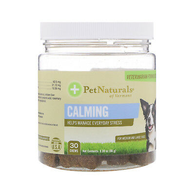 Pet Naturals of Vermont  Calming  For Medium   Large Dogs  30 Chews  3 39 oz  96