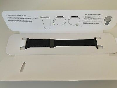 Apple Watch Milanaise Armband schwarz 42/44mm