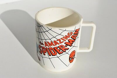 Vintage The Amazing Spiderman Plastic Cup by Deka Made in USA Spider Man