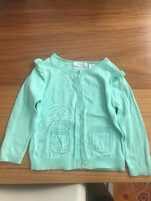 Country Road Baby Girl Cardigan 18 - 24 Mths Gorgeous Aqua . Very Good Condition