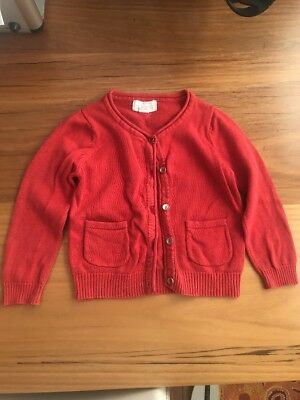 Pumpkin patch Baby Girl Cardigan Lovely Red. 12-18 Mths