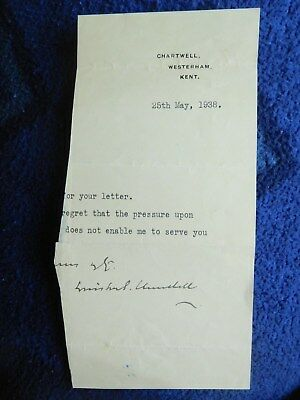 British Prime Minister Winston Churchill Good signature