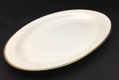 "Empress Gold Band by Homer Laughlin Medium Oval Platter 13.5"" - Antique China"