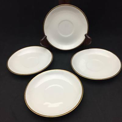 Empress Gold Band by Homer Laughlin Saucers (set of 4) - Antique China