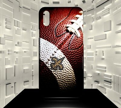 Custodia rigida per iPhone X New Orleans Saints NFL Team 03