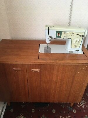 Retro Collectable Sewing Cabinet with built in Singer sewing machine