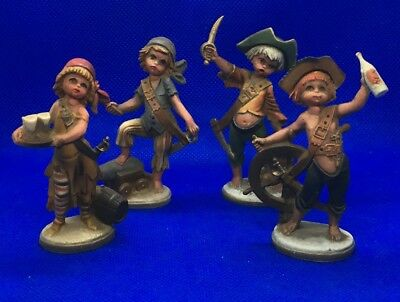Vintage Children Pirates Figurines! cake toppers! ?