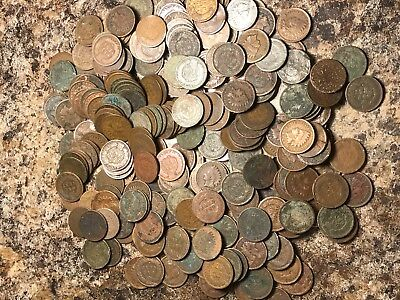 1//2 Roll 25 Mixed Indian Head Penny Coin Lot 1800/'s//1900/'s