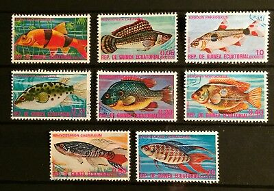 """Equatorial Guinea. 1975 """" Fishes"""" First Series."""