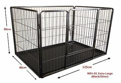 Extra Large Pet Dog Puppy Play Pen Whelping Enclosure Run Cage - Crack in base