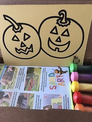 Halloween Sand Art Pictures Childrens Crafts Diy Hobby Party Activity Pack