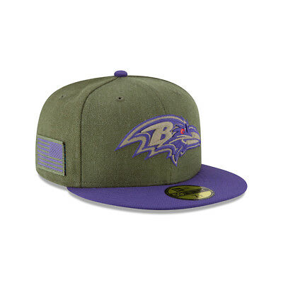 New Era NFL BALTIMORE RAVENS Salute to Service 2018 Sideline 59FIFTY Game Cap NE