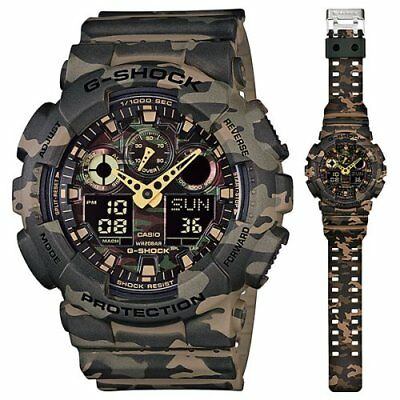 Casio G-Shock GA100CM-5A Camouflage Resin Analog/Digital Quartz 200M Men's Watch